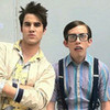 Darren Criss and Kevin Mchale on set of Katy Perry