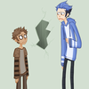 Rigby and Mordecai as human hawskers photo