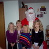 "Maddie (cousin), Sarah (sister), me, Lexi (cousin), and ""Santa""! LaurenJasmine photo"