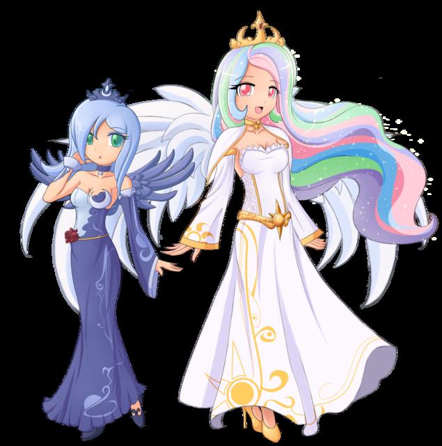 Fanpop - Master0FCards's Photo: Princess Luna and Princess ...