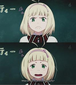 Short Blonde Hair Anime Girl