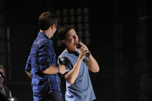 Scotty at the 2011 CMA Music Festival with Josh Turner