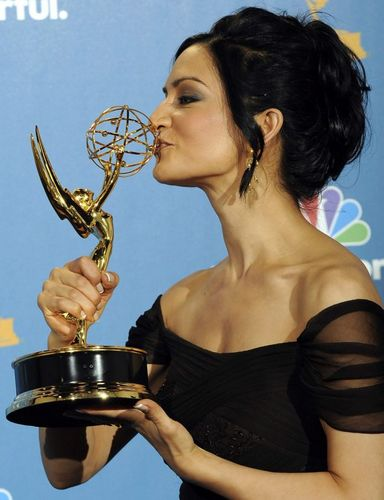 Kalinda with her Emmy