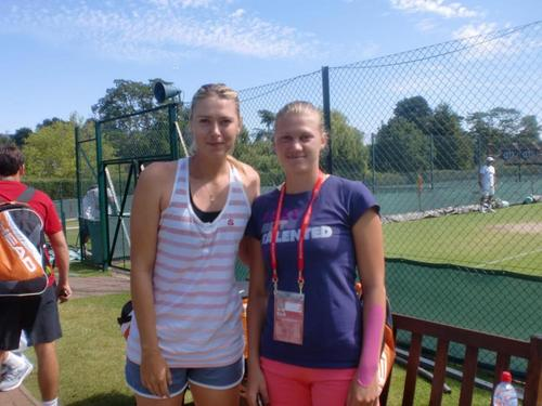 Maria Sharapova (russia) with czech tennis player