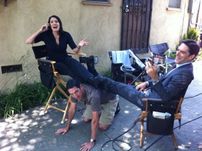 Paget on set :D