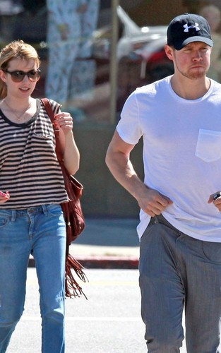 Emma Roberts and Chord Overstreet leaving Joan's On Third (August 22).