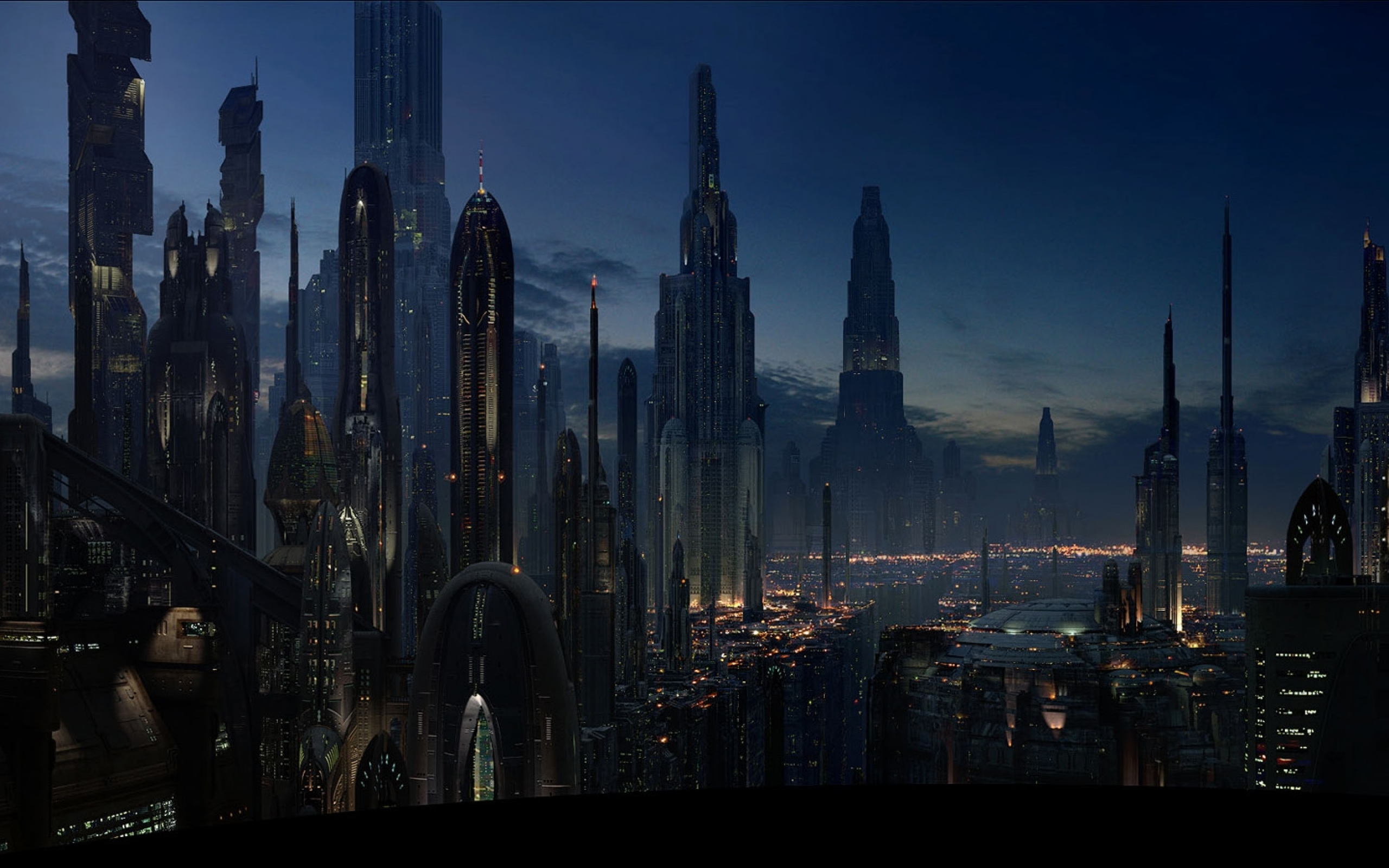 Landscape Hd Coruscant 2560 1600 Star Wars Wallpaper