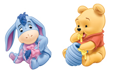 Baby Pooh and Eeyore