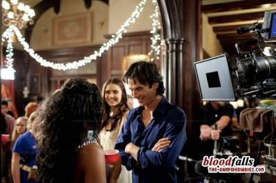 "Nina and Ian backstage in ""The Birthday!"""