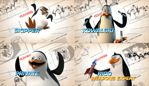 """Top Secret Look at the Penguins of Madagascar"" Collage"