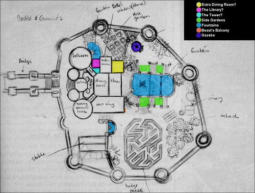 Beast's kastil, castle Map