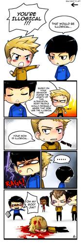 Don't use mom jokes around Spock