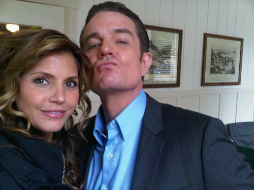 James and Charisma Carpenter on set of Сверхъестественное