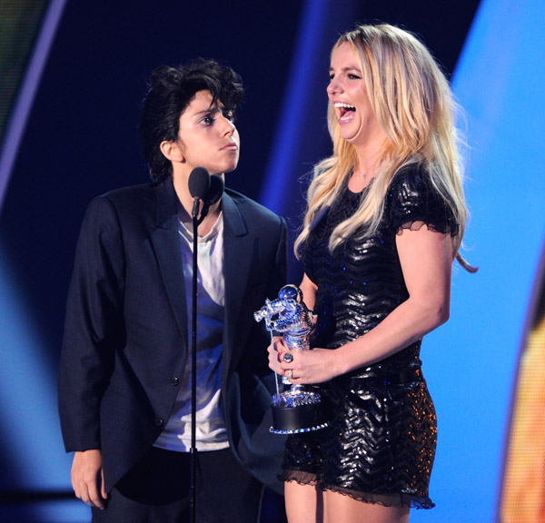 Lady GaGa Presents Britney Spears with MTV Award