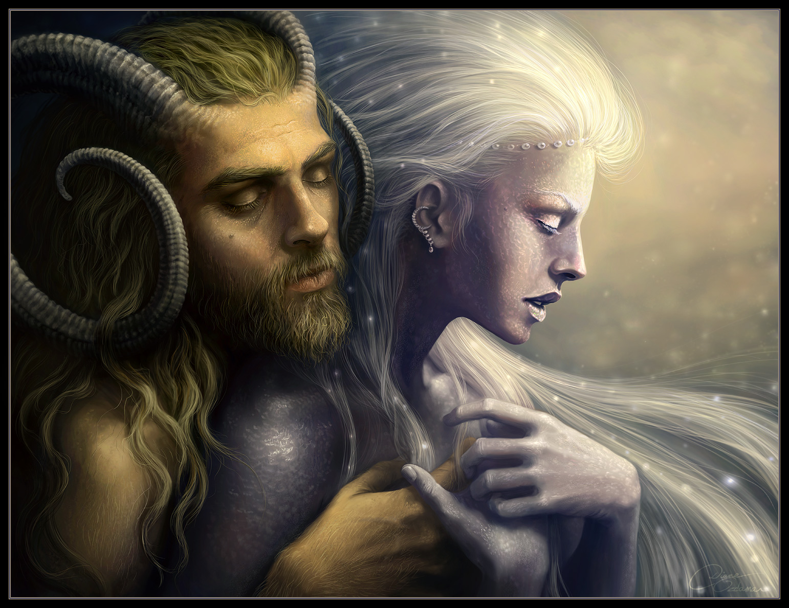 God and Goddess(Pan and Selene)