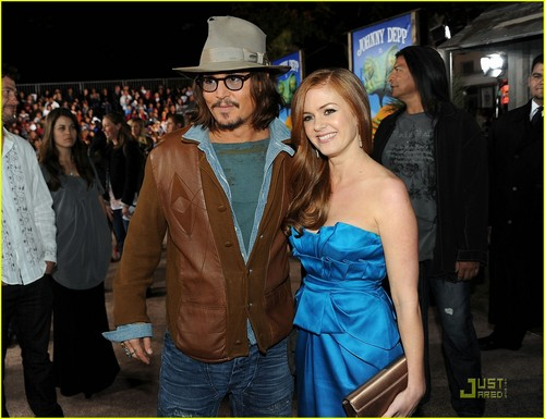 Johnny Depp and Isla Fisher - Rango Premiere