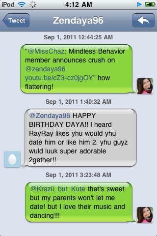 What Zendaya Coleman said about Mindless Behavior