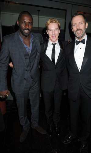 Idris Alba,Benedict Cumberbatch and Hugh Laurie-GQ Men Of The سال Awards2011