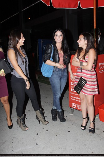 JoJo and Francia Raisa at ボア Steakhouse in Los Angeles