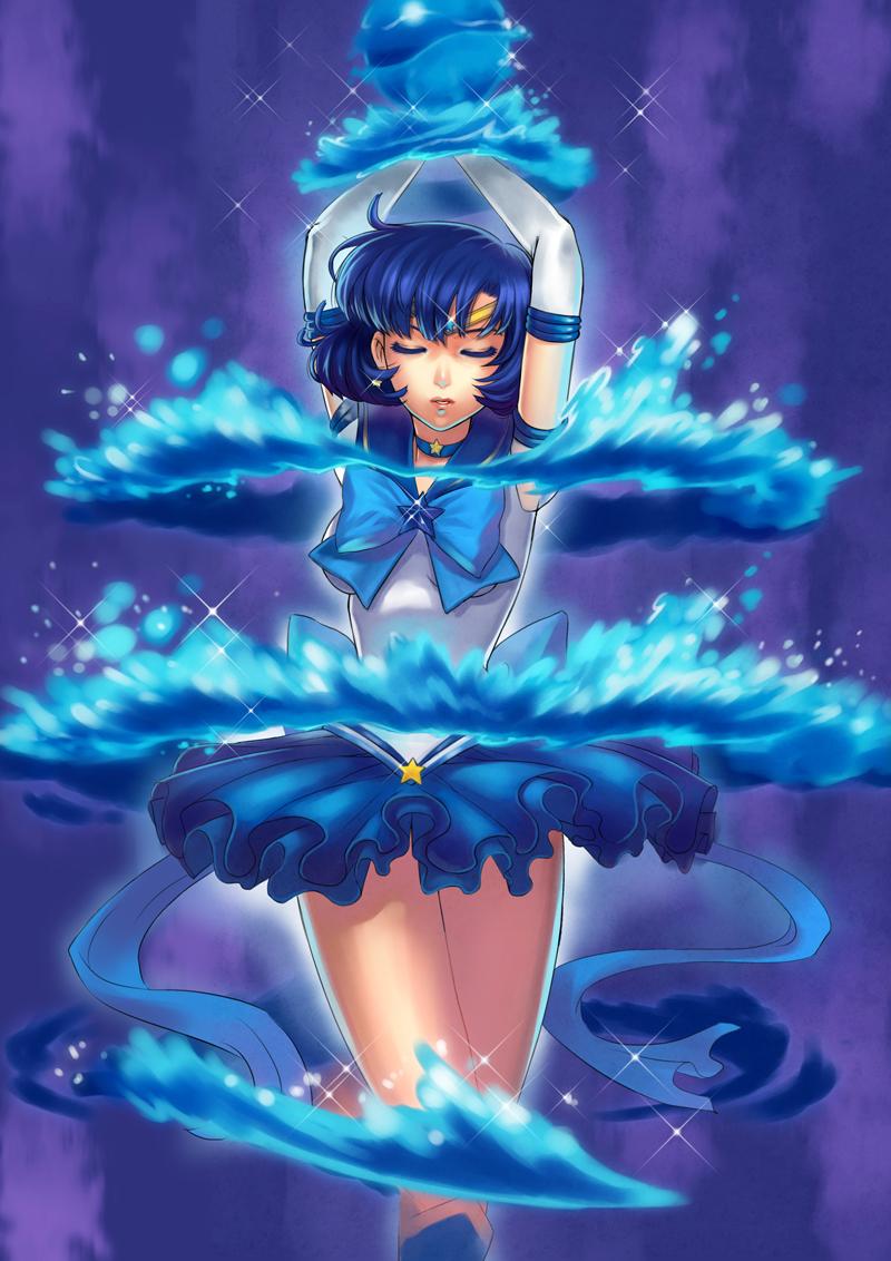 Sailor Mercury Sailor Moon Fan Art 25146847 Fanpop