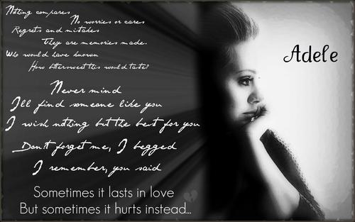 Adele- Someone Like You - Wallpaper