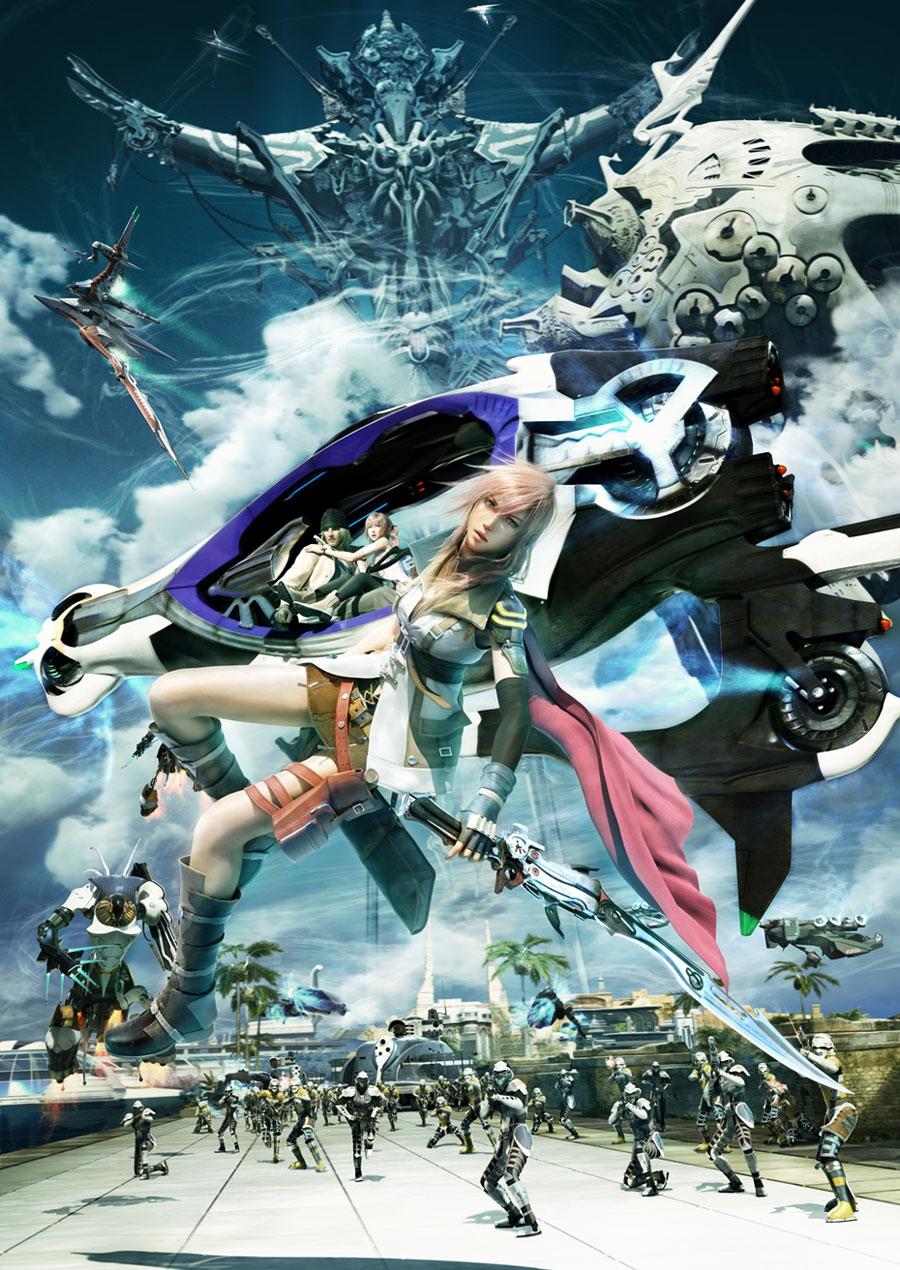 Final Fantasy XIII-2 Artwork Lightning - Final Fantasy