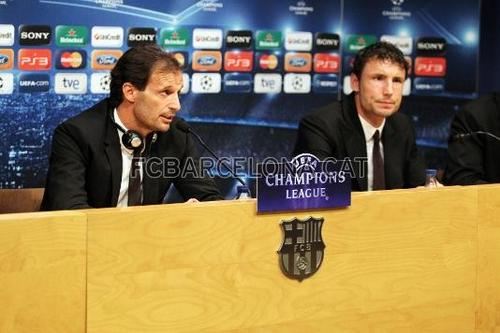Training Session and Press Conference before Champions League game