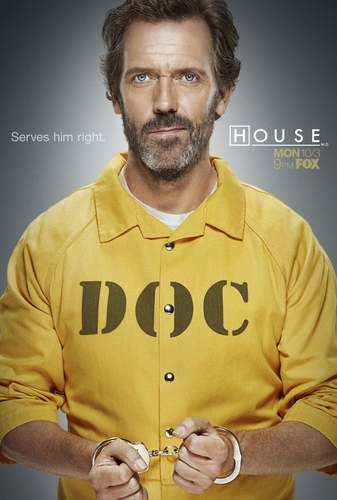 Hugh Laurie- House M.D. Season 8 Promotional Poster-1012x1500 large poster