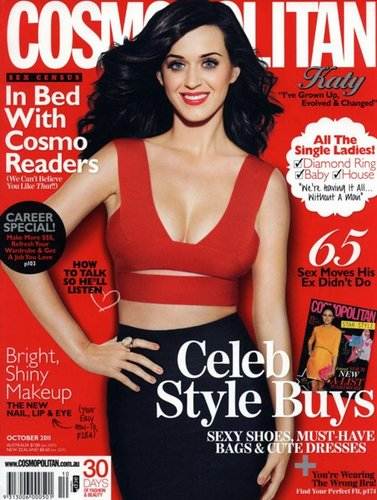 Katy Perry Covers Cosmo Australia October 2011