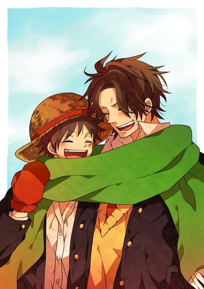 Luffy & Ace - One Piece Fan Art (25348310) - Fanpop