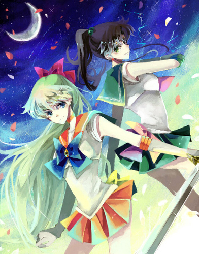 Sailor Venus and Sailor Jupiter