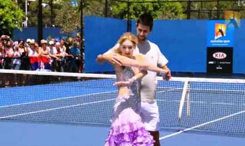 novak djokovic inappropriate touching