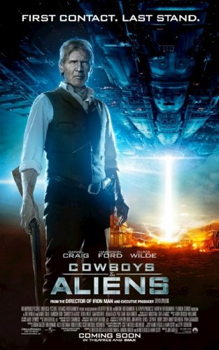 'Cowboys & Aliens' Poster ~ Harrison Ford as Woodrow Dolarhyde