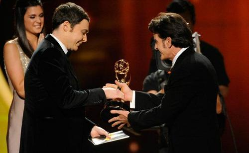 Jim Parsons and Charlie Sheen @ 63rd Annual Primetime Emmy Awards - onyesha