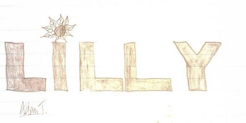 Lilly name drawing