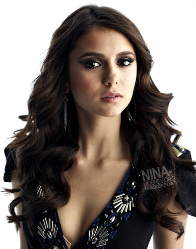 Nina Dobrev at photoshot for Elle