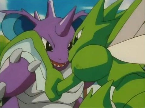 Scyther vs. Nidoking (Well...)