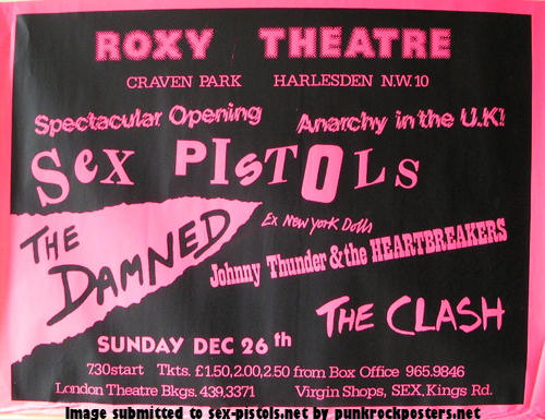 Sex Pistols Roxy Theatre