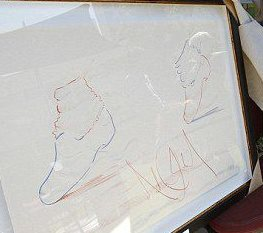 rare picha of michael jackson's drawings