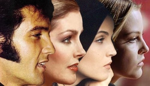 Elvis,Priscilla,Lisa & Riley