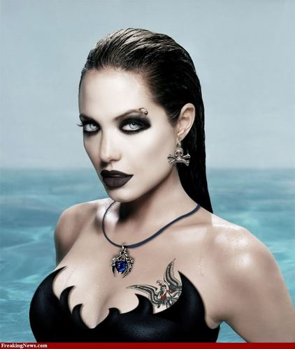 Gothic Angelina Jolie makeover