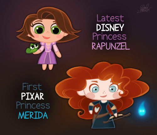 Chiby डिज़्नी Princesses: Rapunzel and Merida