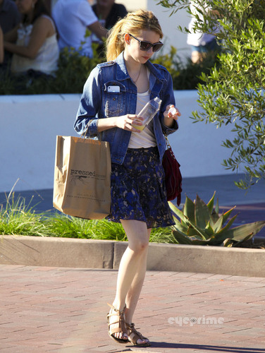 Emma Roberts spotted shopping in Malibu, October 2