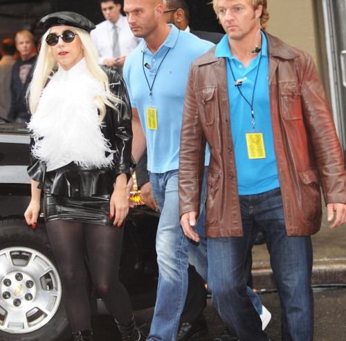Gaga arrives @ Sting's 25th anniversary and 60th birthday concert in NYC