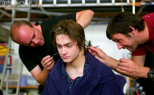HARRY POTTER AND THE GOBLET OF FIRE- Backstage- DANIEL RADCLIFFE