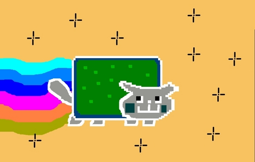 NYAN CAT OPPOSITE COLORS!!!