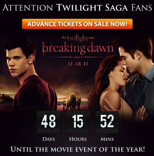 Order Breaking Dawn Tickets