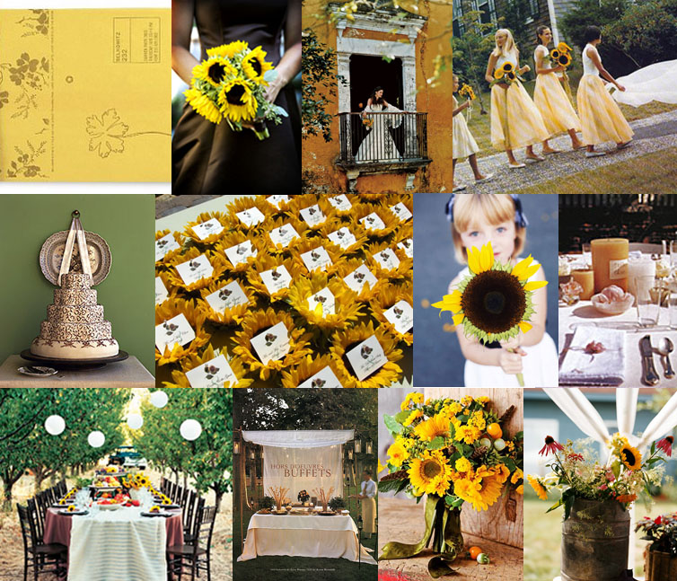 Flowers Images Sunflower Themed Wedding Hd Wallpaper And Background Photos