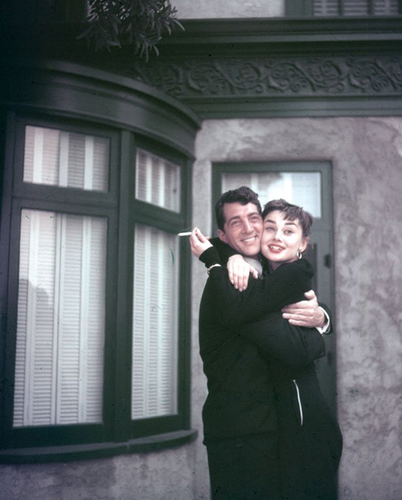 Audrey Hepburn and Dean Martin