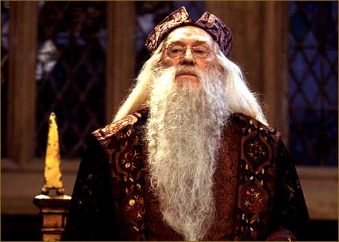 Dumbledore in the Great Hall